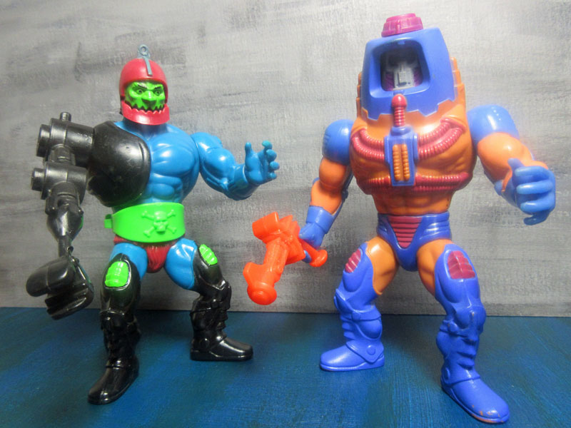 masters of the universe trap jaw und man-e-faces